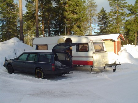 Husvagnen och bilen
