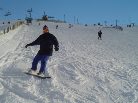 Jan åker snow-board