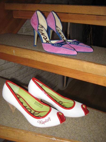 Två par Replay skor