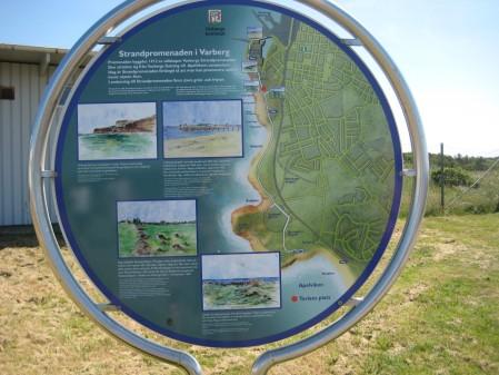 Karta över Strandpromenaden