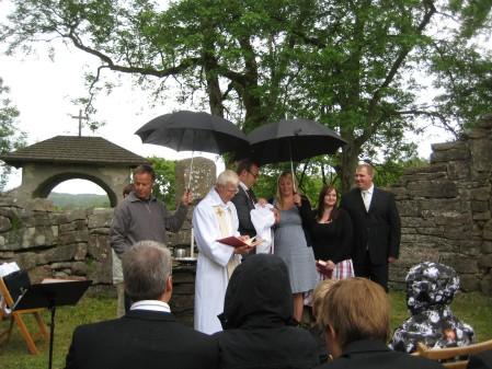 Dop under paraply