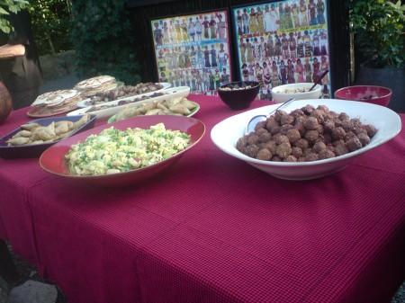 Bjöds på afrikansk mat