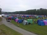 Många färgglada tält